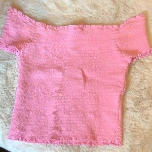 Hot pink Kendall and Kylie crop top